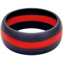 Thin Red Line Heavy Duty Silicone Non Conductive Ring