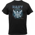 Black USN United States Navy Emblem Logo T-Shirt