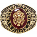 Gold US ARMY Deluxe Engraved Ring