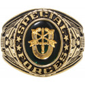 Gold US Special Forces Deluxe Engraved Ring