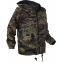 Woodland Camouflage Kids Tactical Reversible Fleece Jacket