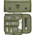 Portable Scalpel Surgical Scissors Mini Instrument Kit With Olive Drab MOLLE Pouch