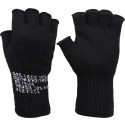 Black Tactical Fingerless Glove Liner Inserts Wool Gloves