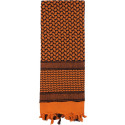 Orange & Black Shemagh Heavyweight Arab Tactical Desert Keffiyeh Scarf