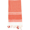 White & Red Shemagh Heavyweight Arab Tactical Desert Keffiyeh Scarf