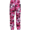 Pink Camouflage Military Cargo BDU Fatigue Pants