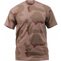 Tri-Color Desert Camouflage Military Short Sleeve T-Shirt