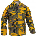 Stinger Yellow Camouflage Military BDU Fatigue Jacket Tactical Coat Shirt