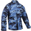 Sky Blue Camouflage Military BDU Fatigue Shirt