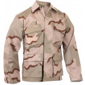 Tri-Color Desert Camouflage Military BDU Fatigue Shirt