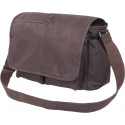 Brown Leather Heavy Weight Classic Messenger Shoulder Bag