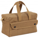 Coyote Brown Military Mechanics Tool Bag w/ Brass Zipper