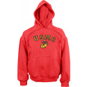Red USMC Marines Logo Pullover Hooded Sweatshirt