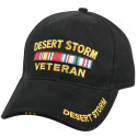 Black Military Desert Storm Veteran Deluxe Low Profile Adjustable Cap