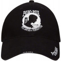 Black Military POW / MIA Deluxe Low Profile Adjustable Cap