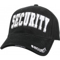 Black Law Enforcement Security Deluxe Low Profile Adjustable Cap