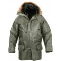 Sage Green Military N-3B Snorkel Parka Jacket
