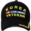 Black Military Korea Veteran Deluxe Low Profile Adjustable Cap
