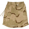 Tri-Color Desert Camouflage Women's Vintage Military Knee Length Skirt