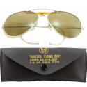 Brown Lenses US Air Force Style Aviators Sunglasses With Case