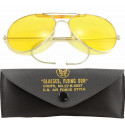 Yellow Lenses US Air Force Style Aviators Sunglasses With Case