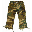 Woodland Camouflage Capri Pants (Womens)