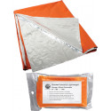 "Orange & Silver Emergency Polarshield Survival Light Weight Reflective Mylar Blanket (82"" x 51"")"