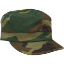 Woodland Camouflage Adjustable Women's Military Patrol Fatigue Cap