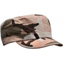 Women's Subdued Pink Camouflage Vintage Military Adjustable Rip-Stop Patrol Fatigue Cap