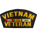 """Vietnam Veteran Military Vet Fully Embroidered Official Iron On Patch 6"""""""