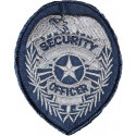Silver SECURITY OFFICER Badge Patch