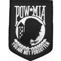 Black POW MIA Army Patch