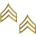 Gold Sergeant Polished Insignia Set