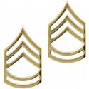 Gold Sergeant 1st Class Polished Insignia Set