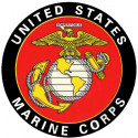 United States Marine Corps Decal (Back Gum)