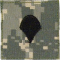 ACU Digital Camouflage Spec 4 Rank Insignia Patch