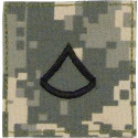 ACU Digital Camouflage Private 1st Class Rank Insignia Patch