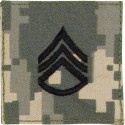 ACU Digital Camouflage Staff Sergeant Rank Insignia Patch