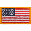 """Red White Blue Regular US American Hook Flag Patch 1 7/8"""" x 3 3/8"""""""
