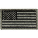 "Foliage Green Forward USA American Flag Hook Patch 1 7/8"" x 3 3/8"""