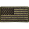 "Olive Drab Forward USA American Flag Hook Patch 1 7/8"" x 3 3/8"""