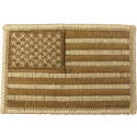Desert Tan Embroidered US Flag Patch