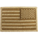 Desert Tan Embroidered REVERSE US Flag Patch
