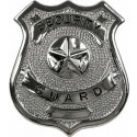 Security Guard Classic Star Badge - Silver Chrome