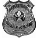 Security Officer Classic Star Badge - Silver Chrome