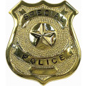 Special Police Classic Star Badge - Gold