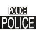 Police Law Enforcement Emblem Patch Set (2 Pieces)