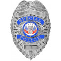 Silver Plated Deluxe Special Police Pin Back Badge