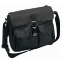 Black Canvas Military Ammo Shoulder Bag