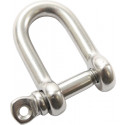 "Stainless Steel Straight D-Shackle 5/32"" With Screw Pin"